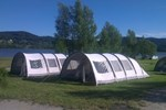 Rental tents on campsite Lipno Modrin