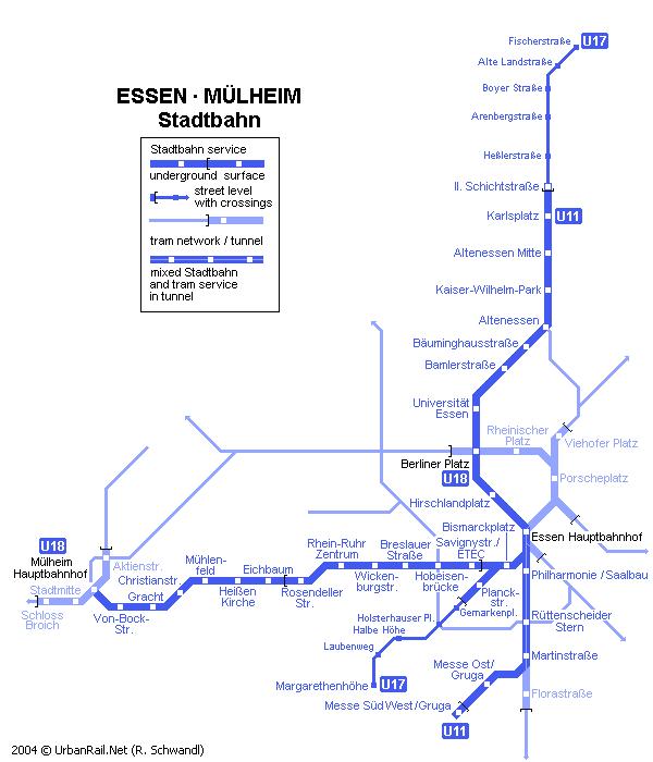 Схема метро в Эссене