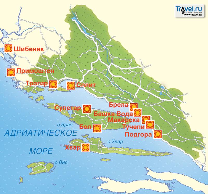 Острова Хорватии 10 крупнейших островов в деталях Fountravel