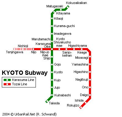 Схема метро в Киото
