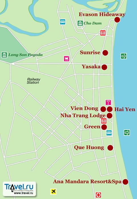 Карта курорта Нячанг