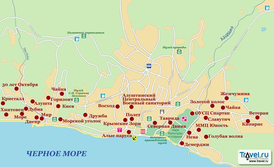 Карта Алушты / Travel.