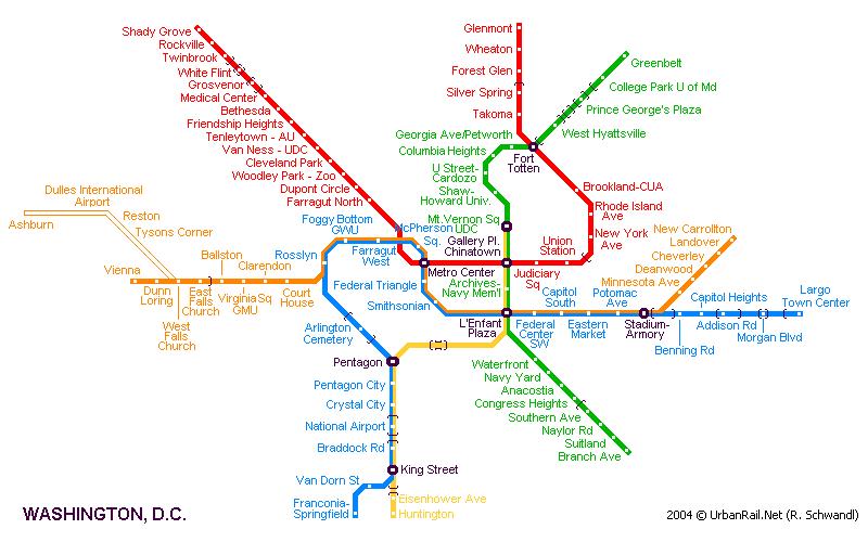 Схема метро вашингтона travel