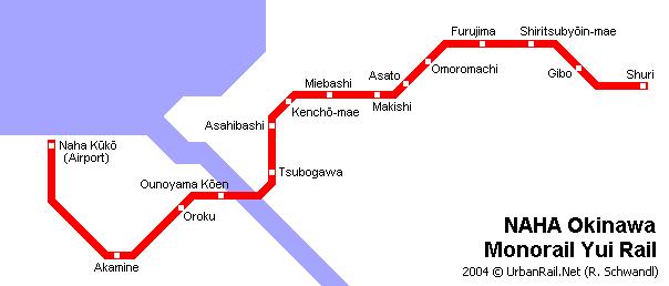 Схема монорельсовой дороги в