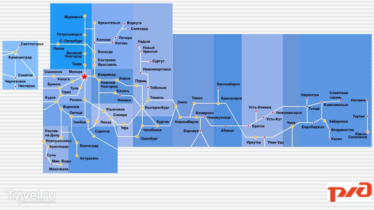 москва владивосток поезд схема на карте