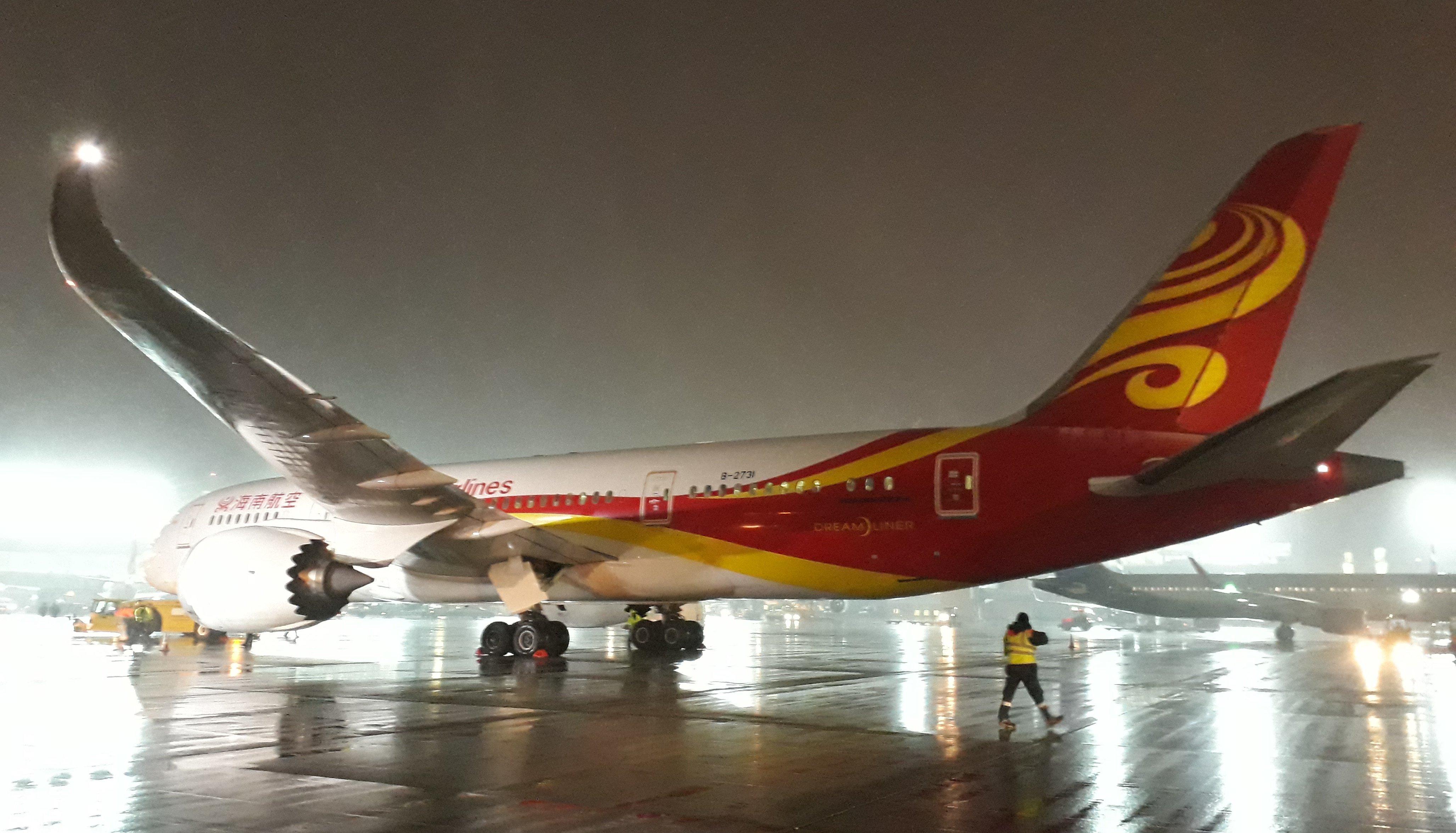 Hainan Airlines стала летать в Москву и Петербург на Boeing 787 Dreamliner