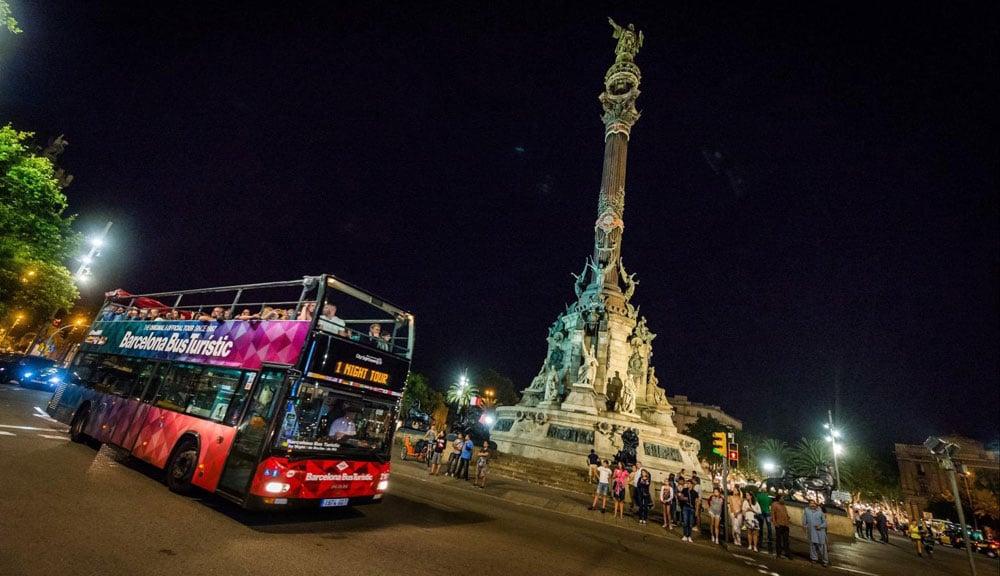 Ночные автобусные экскурсии предлагает Барселона