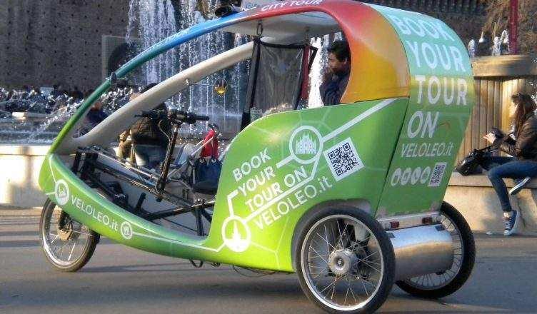 В Милане появятся велорикши