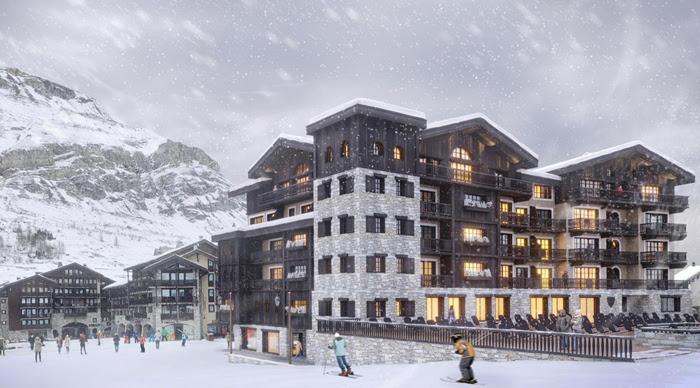 На французском зимнем курорте открывается роскошный отель