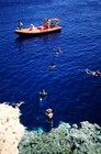 Лодка у берега национального парка Рас-Мохаммед, Синай