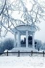 Беседка Островского зимой