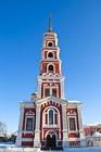 Воссозданная колокольня Покровского храма