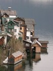 Домики на берегу озера Халльштеттер-Зе