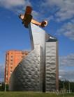 Памятник самолету PO-2 в Мытищах