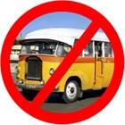 Старый желтый Malta Bus