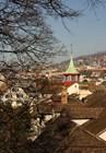 Вид на город со смотровой площадки Липового двора