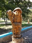 Деревянные скульптуры в Парке авиастроителей