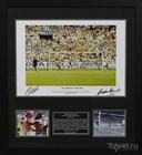 Фотография с автографами Пеле и Гордона Бэнкса из коллекции сувениров магазина Soccer scene