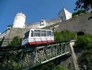 Фуникулер Festungsbahn на крепость Хоэнзальцбург