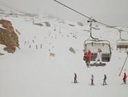 Трассы на леднике Капрун