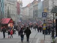 Рождественский рынок на namesti Svobody