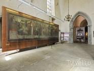 """Фрагмент """"Пляски Смерти"""" Б.Нотке в экспозиции музея Нигулисте"""