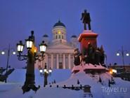 Сенатская площадь под снегом