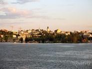Вид центра Лаппенранты со стороны озера Сайма