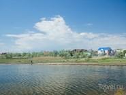 Благовещенские домики на берегу Витязевского лимана