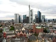 Вид на центр города и небоскребы