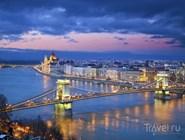 Панорама вечернего Будапешта