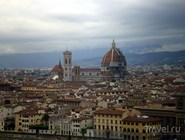 Вид на Дуомо, кампанилу и баптистерий с площади Микеланджело