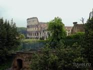 Колизей. Вид из Фарнезианских садов