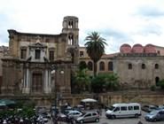 Вид на собор Сан-Катальдо, Палермо
