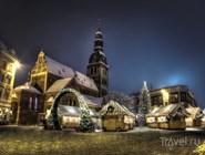 Рождественская ярмарка на площади перед Домским собором