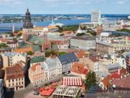 Вид Старой Риги с колокольни Церкви Св.Петра