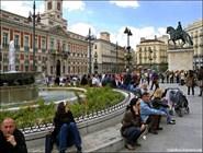 Площадь Пуэрта-дель-Сол в Мадриде