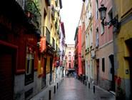 Живописная улица Барселона в Мадриде