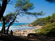 Природный пляж Roca Plana в Таррагоне