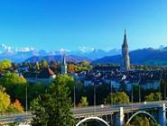 Альпийские пейзажи вокруг Берна