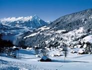 Вид на Беатенберг зимой