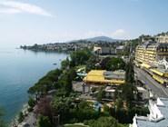 Вид на Монтре и Женевское озеро