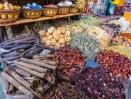 Специи на традиционном рынке в Дейре
