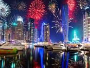 Новогодние фейерверки над Дубаем