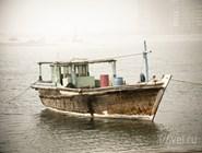 Традиционная деревянная лодка в Персидском заливе