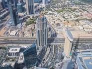 Вид с небоскреба Burj Khalifa на район Даунтауна