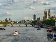Река Темза в сторону Биг-Бена и здания Парламента