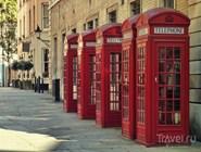 Традиционные лондонские телефонные будки