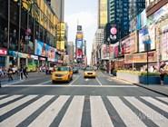Жёлтые такси на Times Square