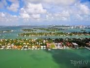 Вид с воздуха на острова Майами